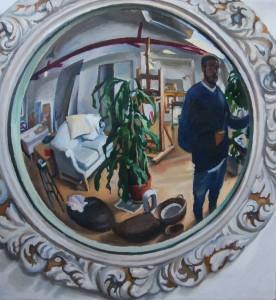 Paul Wuensche - Self Portrait in a Convex Mirror